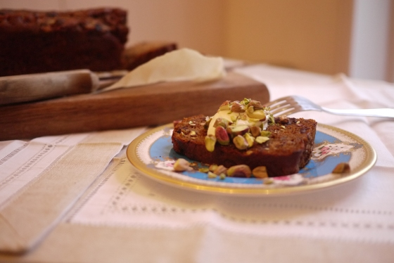 Gluten-Free Banana Bread with Chocolate Chunks and Pistachios